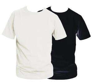 2-pack t-shirt, svart och vit med egen text