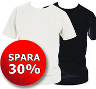 2-pack t-shirt, svart och vit med egen text