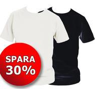 2-pack t-shirt, vit och svart med eget tryck