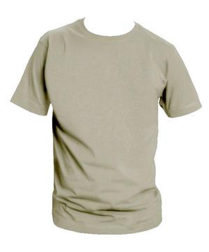 T-shirt, grå med eget tryck