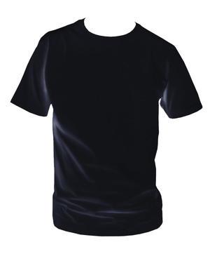 T-shirt, svart med eget tryck