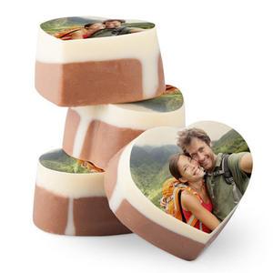 Chokladhjärtat med eget tryck