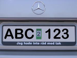 Nummerskylthållare, aluminium-skylt